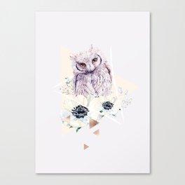 Romantic Owl collection Canvas Print