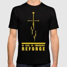 In case of emergency reforge Black MEDIUM Mens Fitted Tee
