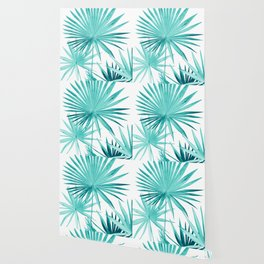 Fan Palm Leaves Jungle #3 #tropical #decor #art #society6 Wallpaper