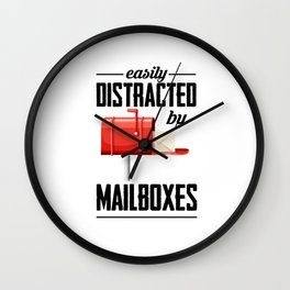 Post Letter Carrier Letterbox Letter Postbringer Wall Clock