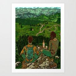 Mountains in Romania Art Print