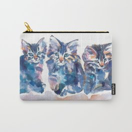 Crazy Quilt Kittens Carry-All Pouch