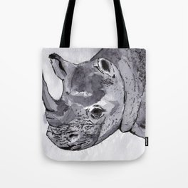 Rhino - Animal Series in Ink Tote Bag