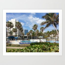 Caribe Hilton, San Juan, Puerto Rico, before Maria Art Print