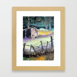 Barn Landscape  Framed Art Print