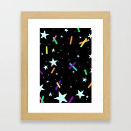 Stars & Tape Framed Art Print