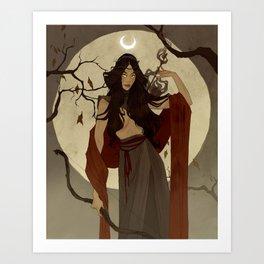 Hunter's Moon Art Print