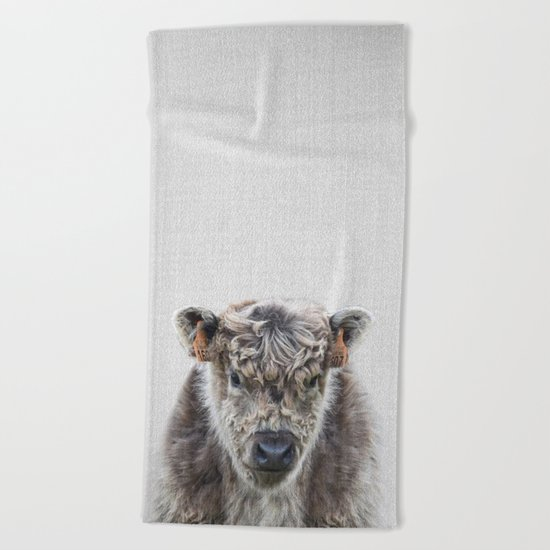 Fluffy Cow - Colorful Beach Towel