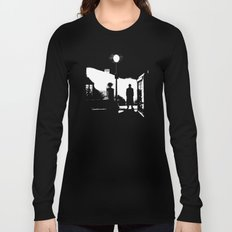 The Exorcist movie poster parody of Doctor Who 10th Long Sleeve T-shirt