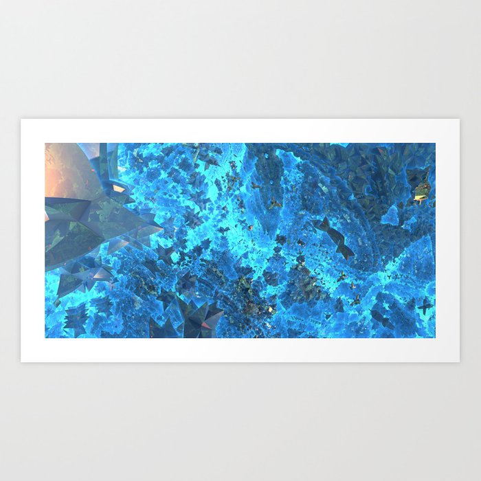 Deep Blue Starfield Art Print