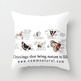 Lepidoptera inspiration: a watercolor collection of Saskatchewan moths & butterflies Throw Pillow