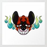Kitsune Smile Art Print