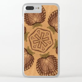 Fat Pineapple and Star Clear iPhone Case