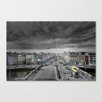 dublin Canvas Prints featuring Dublin by Arther Postrh | Maure |