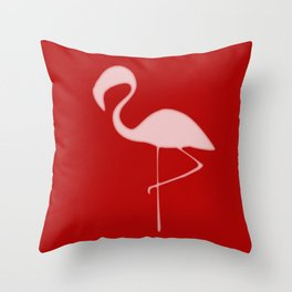 Flamingo Night Throw Pillow
