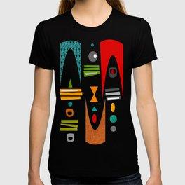 Mid-Century Modern Green Tiki Tok T-shirt