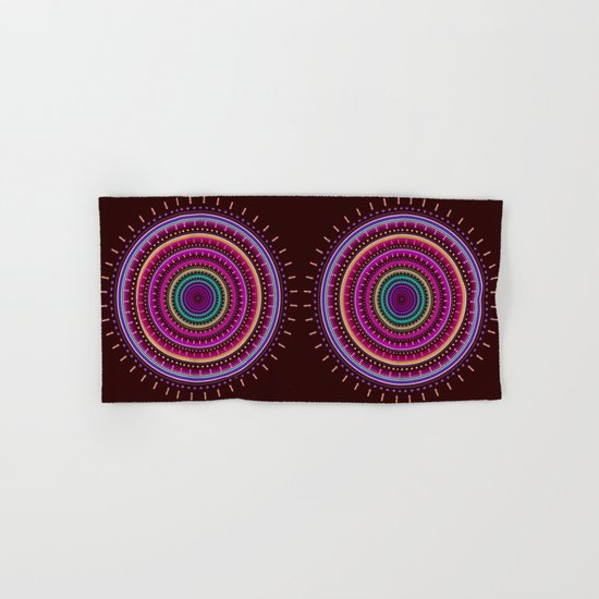Colorful patterns and textured mandala Hand & Bath Towel