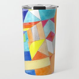 Playful Colorful Architectural Pattern Travel Mug