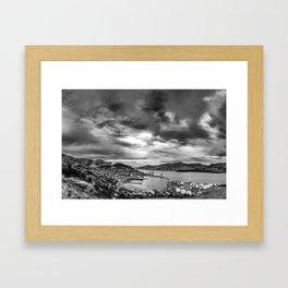 Lyttelton Harbour Skies Framed Art Print
