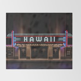 Hawaii Theater Throw Blanket