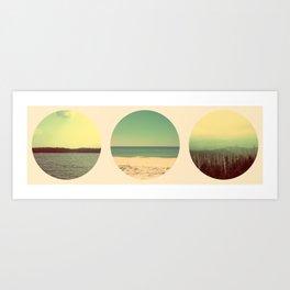 River + Ocean + Mts. Art Print