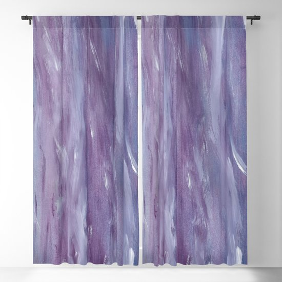 Touching Purple Blue Watercolor Abstract #1 #painting #decor #art #society6 by anitabellajantz