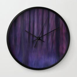 Painted Trees 2 Purples Wall Clock