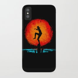 Minimalist Karate Kid Tribute Painting iPhone Case