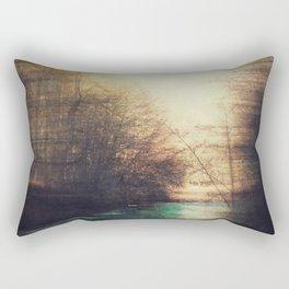 Gold Noise - abstract landscape Rectangular Pillow
