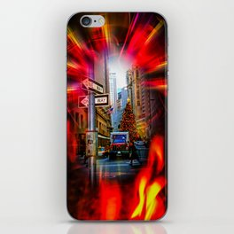 Christmas Shopping New York iPhone Skin