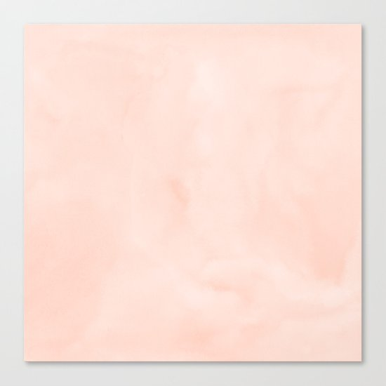Simply Sweet Peach Coral Watercolor Canvas Print