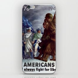 Americas will always fight for liberty iPhone Skin