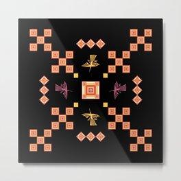 Peru: Nazca Lines (Condor) - Geometric Design (Square) Metal Print