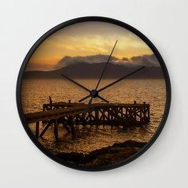 Last Cast at Portencross Jetty Wall Clock