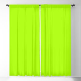 Trendy modern lime green neon color Blackout Curtain