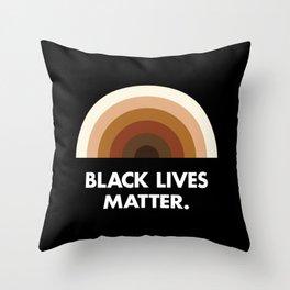 Black Lives Matter Rainbow Throw Pillow