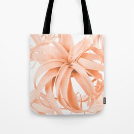 Coral Color Air Plant White Background #decor #society6 #buyart Tote Bag