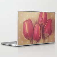antique Laptop & iPad Skins featuring Antique Tulips by Jessica Torres Photography
