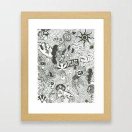 In Time, One Tells Framed Art Print