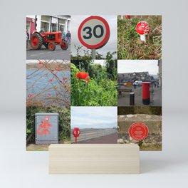 Pillar Box Red Photo Collage Mini Art Print