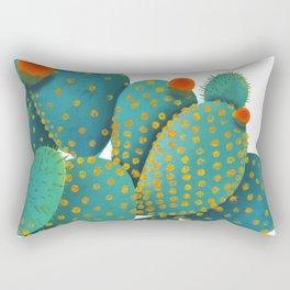 Prickly Pear Cactus Rectangular Pillow