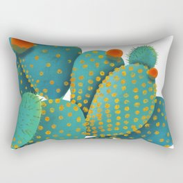 Prickly Pear Cactus Rectangular Pillow