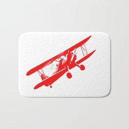 vintage aeroplane decoration Bath Mat