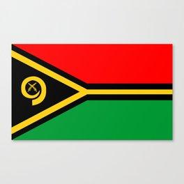 Vanuatu country flag Canvas Print