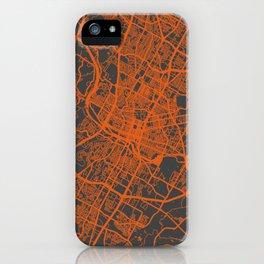 Austin map orange iPhone Case