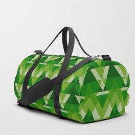 Geometric - Green Duffle Bag