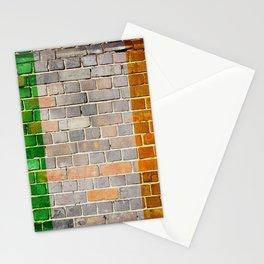 Ireland flag on a brick wall Stationery Cards