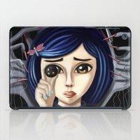 coraline iPad Cases featuring Coraline and the secret door by Artik