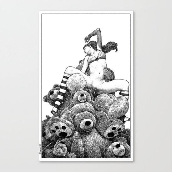 asc 606 - La récolte du miel (The vixen and the bears) Canvas Print