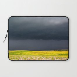 Simply Spring - Thunderstorm Over Yellow Fields in Oklahoma Laptop Sleeve